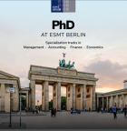 PhD brochure cover with image of Brandenburg Gate