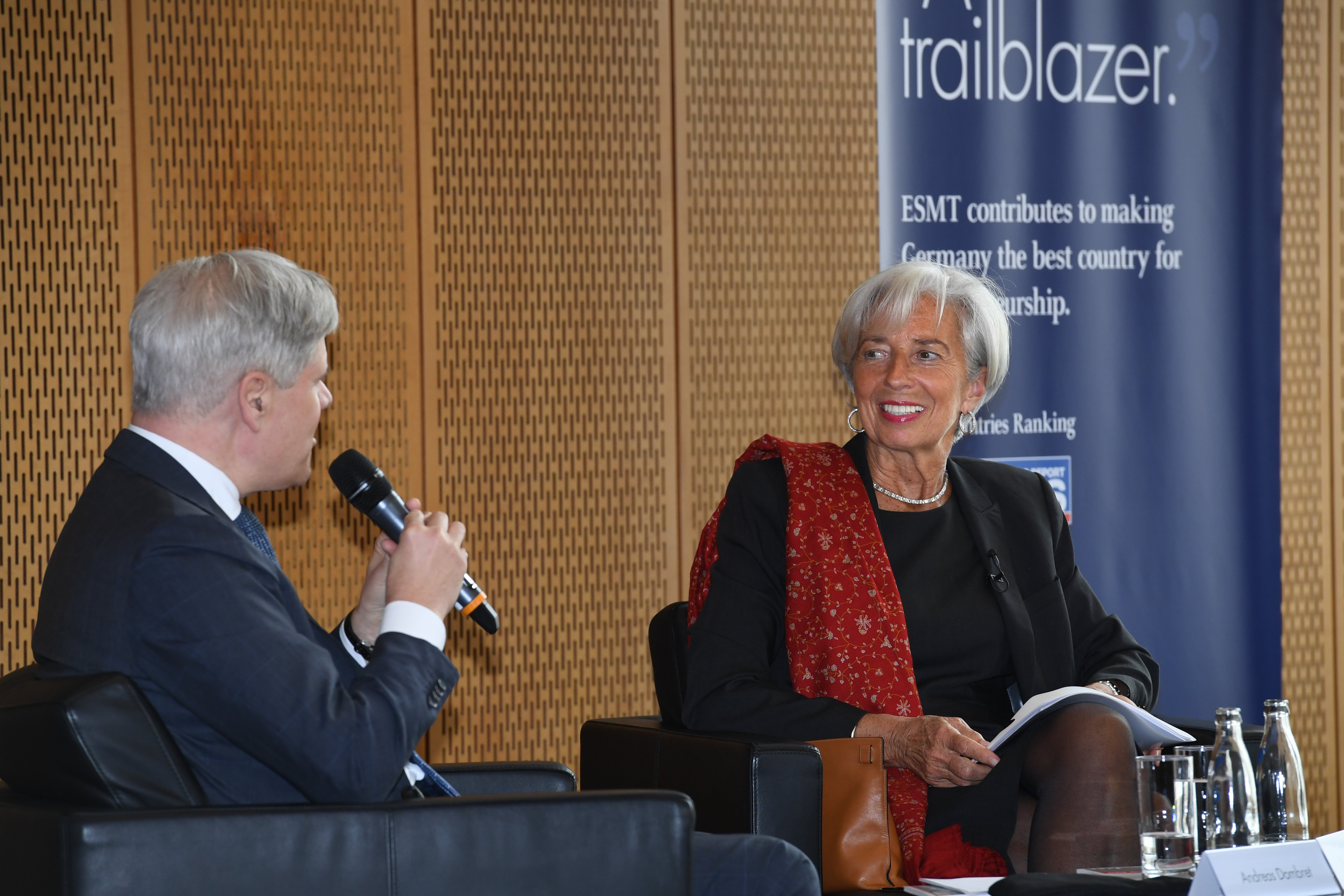 Christine Lagarde in talk